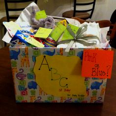 ABCs of baby  Baby shower gift full of everything baby needs using the whole alphabet!