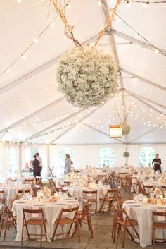 My Wedding! Yup - those are giant baby breath balls.