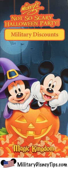 Military Discounted Tickets are available for the 2015 Mickey's Not So Scary Halloween Party.