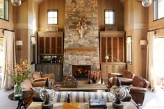 Transitional rustic living room designed by Will Wick