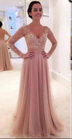 Long sleeve prom dresses, lace prom dresses, tulle prom dresses, pink prom dresses, sexy prom dresses, prom dresses