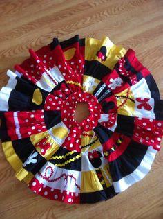 patchwork Mickey skirt