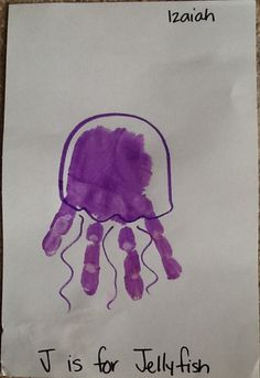 A hand-print octopus made by Izaiah, 3 years old • Art My Kid Made #kidart