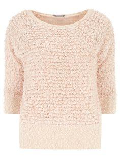 Tall shaggy knit jumper (Dorothy Perkins).
