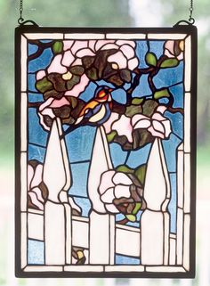 13 Inch W X 18 Inch H Picket Fence Stained Glass Window - 13 Inch W X 18 Inch H Picket Fence Stained Glass WindowFondly recall simpler days of front porch gliders and White picket fences with Meyda Tiffany's originalPicket Fence Window. Handcrafted utilizing the copper foil construction process and 204 pieces ofstained art glass encased in a solid brass frame, eachwindow is a unique creation to be forever treasured.Mounting bracket and jack chain included. Theme: Product Family: Picket Fence…