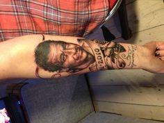 My dad forever on my arm! #tattoo #portrait #portraittattoo