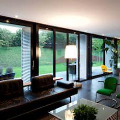 Por de kovel architecten moderno | homify Contener House, Industrial Chic, Decoration, Sweet Home, New Homes, House Design, Flooring, Living Room, Interior Design