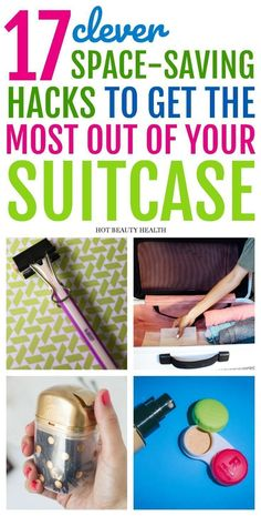 17 Space-Saving Tips When Packing Your Suitcase - Hot Beauty Health - 17 space-saving hacks that will help you get the most out of your suitcase for easy travel. If you're packing for a vacation soon, these tips will help you to be more organized. Suitcase Packing Tips, Packing Tips For Vacation, Vacation Trips, Packing Hacks, Europe Packing, Traveling Europe, Vacation Deals, Backpacking Europe, Cruise Tips