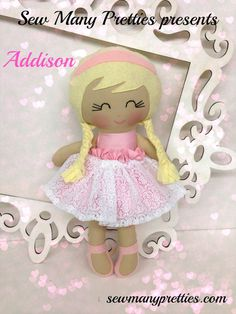 Princess Handmade Doll Plush Addison Soft Dolls by SewManyPretties, $42.00