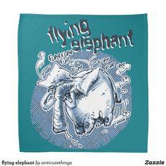 flying elephant #bandana #cartoon #elephant #humor #fun #funny #design #outdoor #accessories #blue #sky #fly #flying #ears