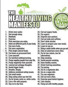 Healthy Living Manifesto