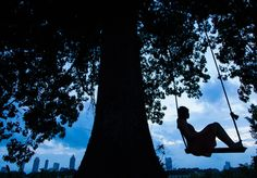 SWING SET The wide wooden swing atop a hill on the Beltline behind Two Urban Licks is one of our favorite places: It's an incredibly romantic place to bring a picnic and swing, watching the sun set behind the city. #atlanta