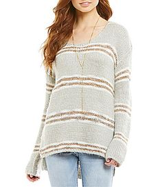 CandV Chelsea and Violet Scoopneck Sweater #Dillards