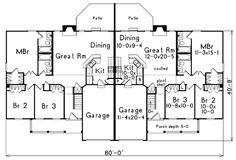 24 best duplex single story ranch homes images family. Black Bedroom Furniture Sets. Home Design Ideas
