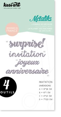 Troquel Kesi´Art- Metaliks- Invitation