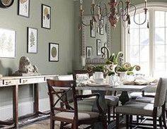 Sage green dining room: 'Creekside Green' by Benjamin Moore | by SarahKaron