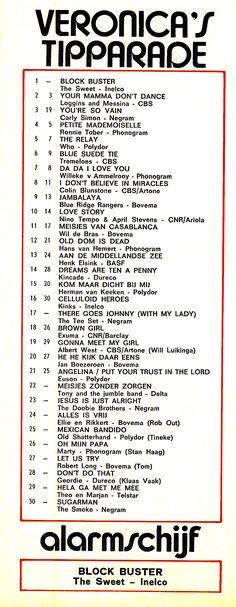 ALARMSCHIJF THE SWEET - BLOCKBUSTER was op 13 januari 1973 de Alarmschijf van deze week. YOUTUBE: youtube.com/watch… SPOTIFY: https://open.spotify.com/track/6lImDMS6vAMyRRifk7Fabg