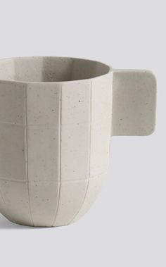 The Hay Paper Porcelain Coffee Cup, designed by Scholten & Baijings has a name that perfectly describes it - a coffee cup in porcelain that looks like coarse paper.