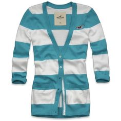Hollister Co Costa Mesa ($15) ❤ liked on Polyvore featuring tops, cardigans, sweaters, shirts, outerwear, women, blue cotton shirt, cotton cardigan, navy blue boyfriend cardigan and stripe shirt