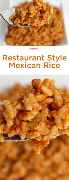Ever wished you could recreate your own version of authentic Mexican rice in your own home kitchen that can rival any restaurant's? Get the flavor, withOUT all the oils and frying. :)