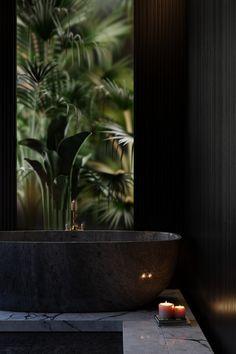 Wooden bathroom design // cgi visualization by George Turmanidze. Visualization done in Blender Home Design Decor, House Design, Luxury Rooms, Wooden Bathroom, Bathroom Design Luxury, Dark Interiors, 3d Visualization, Blender 3d, 3d Models