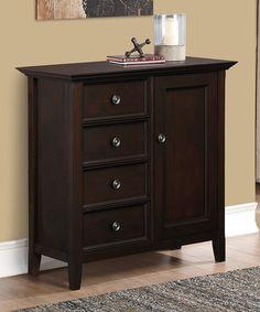 Look at this #zulilyfind! Dark American Brown Amherst Medium Storage Cabinet #zulilyfinds