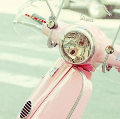 The only thing better than a pink Vespa for me, is a white one! Oh, how I would love one!!!