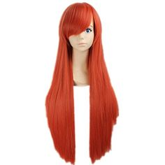 Prettymart Cosplay Wig Bleach Horo Gerade Lang Orange Karneval Anime Hair * Details can be found by clicking on the image.
