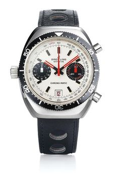 The @breitling Chrono-Matic (1969) - Breitling and Heuer (now TAG Heuer) were responsible for the design, the dials, the cases and the other components of this watch. The official launch of the Breitling Chrono-Matic, the world's first automatic chronograph with micro-rotor, took place on March 3, 1969.  More @ http://www.watchtime.com/featured/5-milestone-breitling-watches-from-1915-to-today/ #breitling #watchtime #chronograph #TAGHeuer