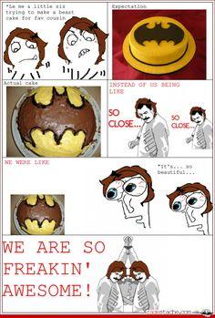 Comic - Bawesome Batman Cake