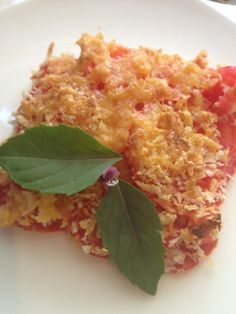 EASY HEALTHY SIDE DISHES: Tomato Au Gratin – 166 calories