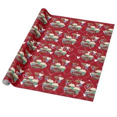 Valentines sweets pattern wrapping paper - love gifts cyo personalize diy