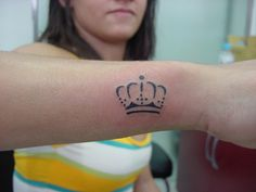 crown tattoo ~ a child of God set free ~ I want the crown on the tip of the butterfly's wings