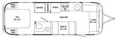 28' International/Safari floor plan