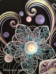 *QUILLING ~ Painting mural drawing Paper Quilling Winter band photo 3