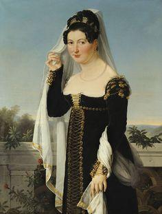 Ecole allemande - Presumed portrait of Princess Adelheid of Anhalt-Bernburg, Duchess of Oldenburg (c.1820) - Category:Princess Adelheid of Anhalt-Bernburg-Schaumburg-Hoym - Wikimedia Commons