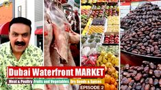 Best Waterfront Market in the World ! Dubai Waterfront, Dubai Travel, Travel Activities, Fruits And Vegetables, Uae, Poultry, Spices, Fish, Marketing