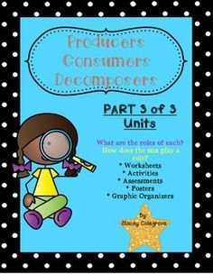 Producers, Consumers, Decomposers Science Lessons, Worksheets, Inquiry Science Lessons, Science Activities, Classroom Procedures, Classroom Ideas, Science Classroom, Responsive Classroom, Next Generation Science Standards, Digital Print, Applied Science
