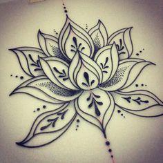 simple lotus design Mais