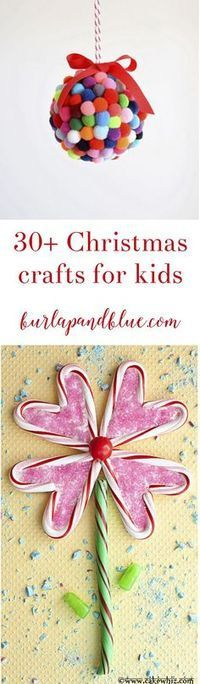 Sharing over 30 favorite Christmas and holiday crafts for kids! Children of all ages will love these fun Christmas DIYs--everything from tree ornaments, to gifts, and more are included!