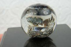 Into the Fire Lampwork Art Beads ~Black Tundra~ Artist handmade glass focal bead