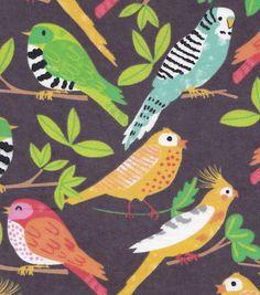 Snuggle Flannel Fabric Tropical Birds