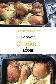This all-in-one meal is quick to assemble and makes a hearty, comforting dinner. Browned chicken pieces are surrounded by tasty herbed popover batter and baked to a rich golden brown. Cast iron multitasks easily here, going from stove-to-oven-to-table and keeping dirty dishes to a minimum.