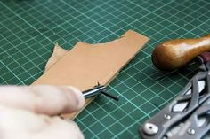 Prerequisite: How to thread your needles for hand-sewing Things you'll need: Basic: To start out, you'll need your leather pieces (whatever project you're How To Make Leather, Sewing Leather, Leather Crafting, Thick Leather, Glue Crafts, Leather Pieces, Leather Projects, Leather Working, Hand Sewing