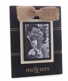 """Mud Pie """"Mr. and Mrs."""" Picture Frame"""