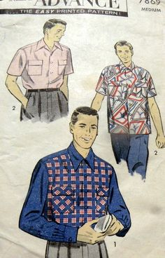 1950s mans shirt