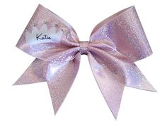 Cheerleading Hair Bow Personalized with Name by LuckyGirlCheerBows, $18.00