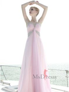Sheath Sweetheart Chiffon Prom Dress with Beading