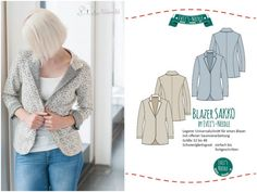 """Ebook Blazer """"SAKKO"""" by EvLi's-Needle Blazer, Outfit, Suit Jacket, Breast, Suits, Sewing, Pattern, Sweaters, Fashion"""
