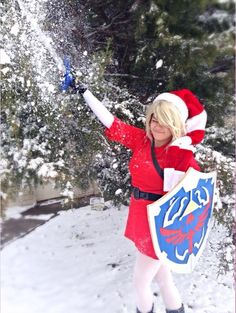 Christmas Link - Playing in the Snow by Juliana-Nasome
